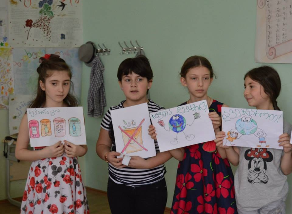 Tbilisi #130 public school held an open lesson on environmental topics